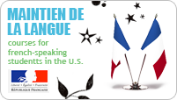 Maintien de la langue, courses for French-speaking students in the U.S.